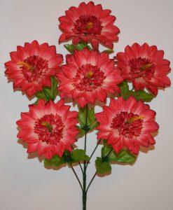 Искусственные цветы-Георгина с кукурузкой 6-ка не прес R-1069
