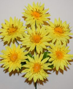 Искусственные цветы-Астра с золотом 7-ка R-1093