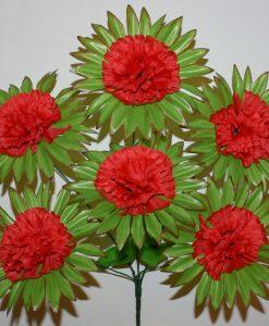 Искусственные цветы-Калинка с резеткой 7-ка R-1114