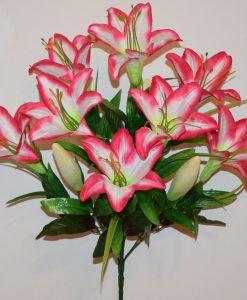 Искусственные цветы-Лилия с пластмасками не прес R-1096