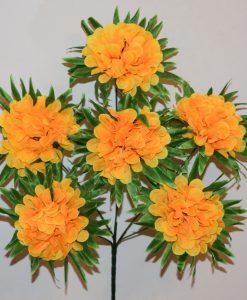 Искусственные цветы-Калинка с пальмовым листом 6-ка R-1102