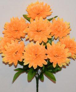 Искусственные цветы-Хризантема-гвоздика 9-ка R-1111