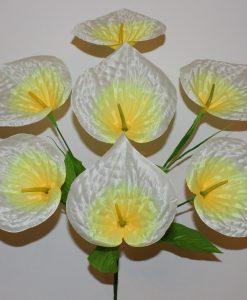 Искусственные цветы-Кала атласная 7-ка R-1098