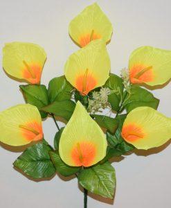 Искусственные цветы-Кала атласная 7-ка R-1109