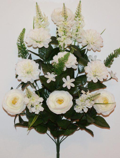 Искусственные цветы-Пион+Хризантема с азалией не прес R-1127