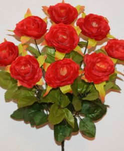 Искусственные цветы-Роза камелия 9-ка R-1138