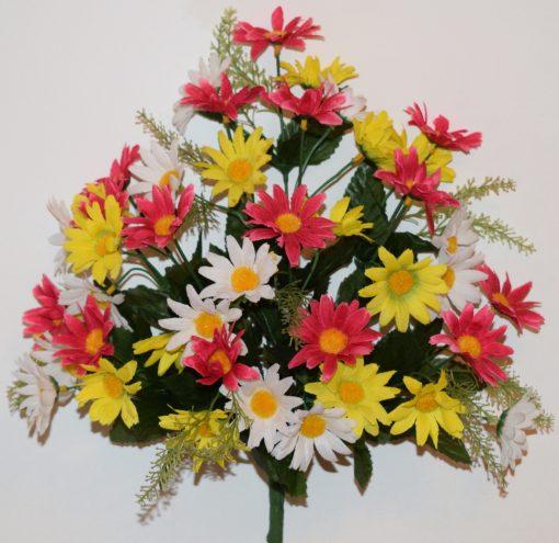 Искусственные цветы-Ромашка микс цветная R-1126