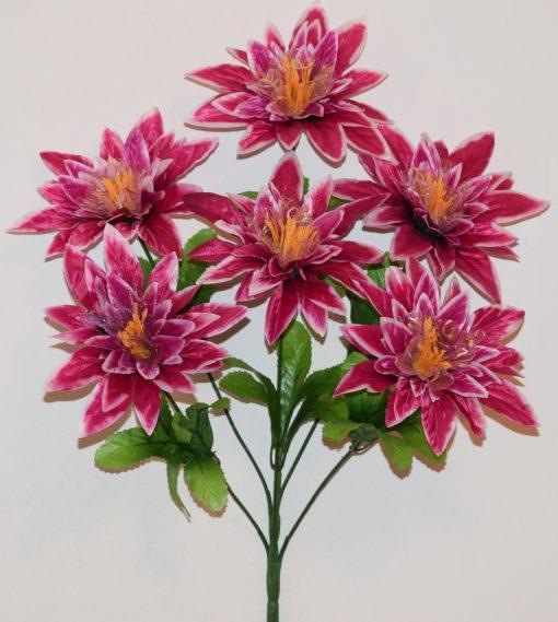 Искусственные цветы-Звезда атласная с фатином 6-ка R-1120