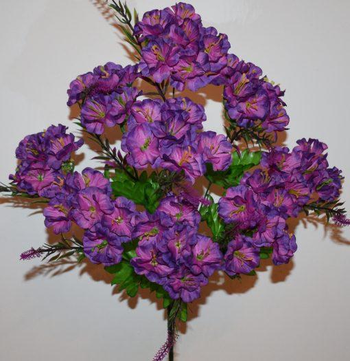 Искусственные цветы-Гортензия букет с пластмасками R-1125