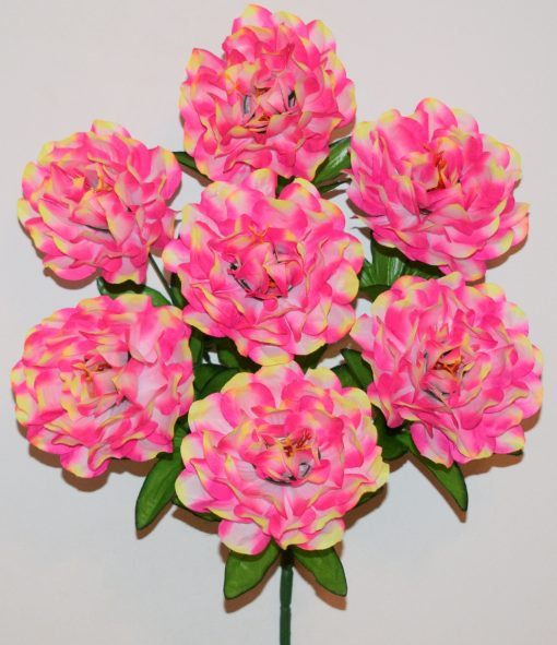 Искусственные цветы-Хризантема радуга атласная 7-ка R-1131