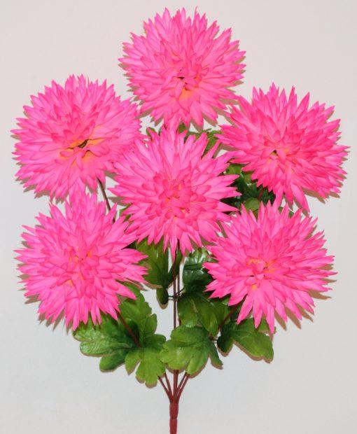 Искусственные цветы-Ёжик-Хризантема цветной 6-ка R-1149