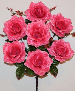 Искусственные цветы-Роза остроконечная атлас 7-ка R-1137