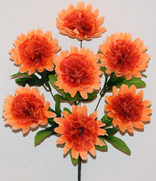 Искусственные цветы-Хризантема-гвоздика 7-ка R-1117