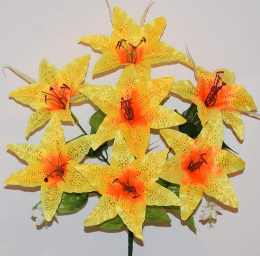 Искусственные цветы-Лилия атласная 7-ка R-1144