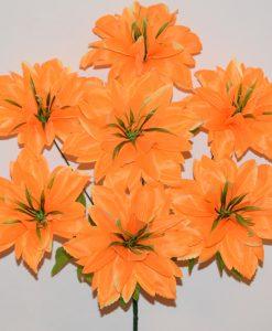 Искусственные цветы-Ананас атласный с зеленью 7-ка R-1158