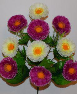 Искусственные цветы-маргаритка микс 10-ка R-135