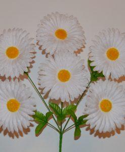 Искусственные цветы-Ромашка белая 6-ка R-294
