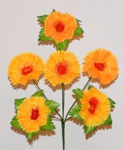 Искусственные цветы - Мальва с листиком R-329