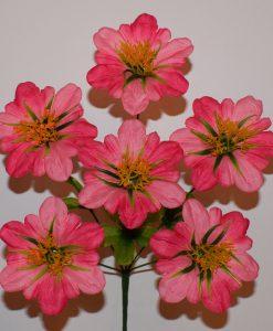 Искусственный цветок - Мальва с присыпкой 6-ка R-740
