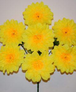 Искусственные цветы —Георгина крупная 7-ка R-449