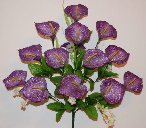 Искусственные цветы- Кала люрекс 14-ка R-577