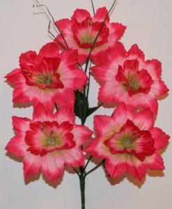 Искусственные цветы-Звезда с бусинкой 5-ка R-602