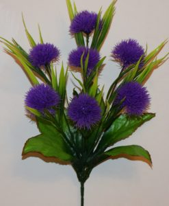 Искусственные цветы-Ёжик с пластмаской 7-ка R-450