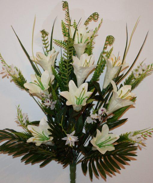 Искусственный цветок- Лилия натуральная с мимозой не прес R-1033