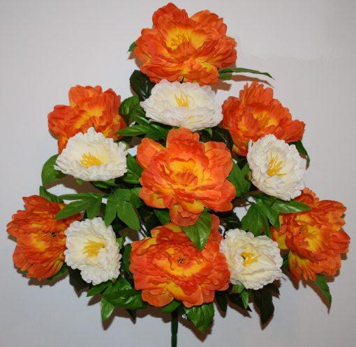 Искусственные цветы-Пион большой двухцветный не прес R-706