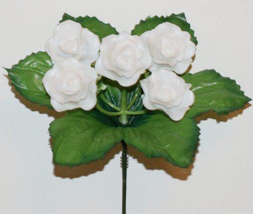 Искусственные цветы-Заливка Розочка пластмаса 5-ка Z-60