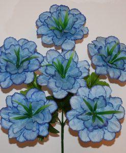 Искусственные цветы-Мальва атлас з травкой 6-ка R-716