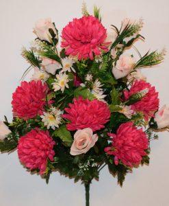 Искусственные цветы-Хризантема микс с пластмасками R-745