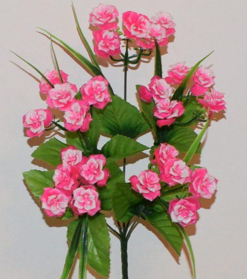 Искусственные цветы-Роза пластмасовая букетик R-733