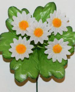 Искусственные цветы-заливка Ромашка белая 5-ка Z-86
