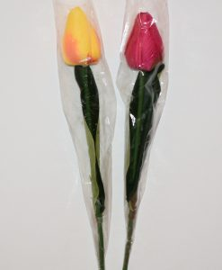 Искусственные цветы- Ветка Тюльпанчик с пинопластом не пресован B-99