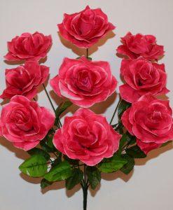 Искусственные цветы-Роза открытая 9-ка R-770