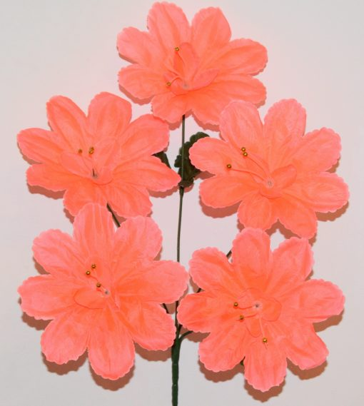 Искусственные цветы —Мальва павлин с бусинкой 5-ка R-683