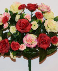 Искусственные цветы-Роза невеста микс не прес R-870