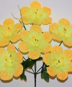 Искусственные цветы-Мальва выбитая 6-ка R-794