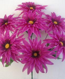 Искусственные цветы-Астра крокус золото 7-ка R-894