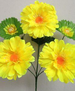 Искусственные цветы-Мальва с кувшынкой R-679
