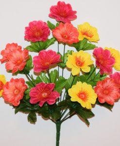 Искусственные цветы-Ромашка комбинированая 16-ка R-951