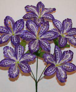 Искусственные цветы-Мальва павлин 6-ка не прес R-910