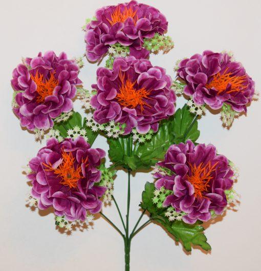 Искусственный цветок -Калинка с звёздочками 6-ка R-990