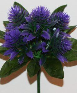 Искусственный цветок -Ёжик новый пластмасовый 5-ка не прес Z-96