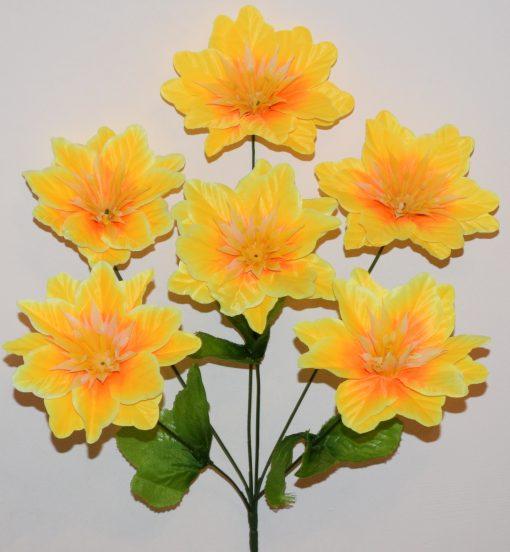 Искусственные цветы-Крокус твёрдая средина 6-ка R-875