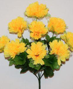 Искусственный цветок -Хризантема с розеткой 9-ка R-900