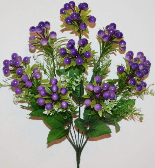 Искусственный цветок-Калинка люкс с пластмасками не прес R-1023