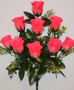 Искусственный цветок-Роза бутон крокус с пластмасками не прес R-1021