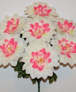 Искусственные цветы-Роза камелия с пластмасками 9-ка не прес R-1083